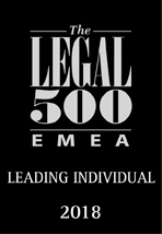 The Legal 500 - Leading Individual 2018